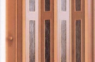 porte soffietto legno e pvc